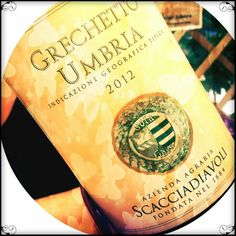 Grechetto. Good wine. Love love love  #wine #italy #umbria