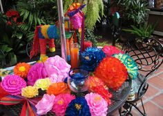 Teresita flowers- fun for an outdoor party or cinco de mayo and could probably be an easy DIY!