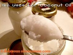 122 Uses for Coconut Oil – Even More of the Simple, the Strange, and the Downright Odd...    Read More at www.deliciousobsessions.com/2012/05/122-uses-for-coconut-oil-even-more-of-the-simple-the-strange-and-the-downright-odd/ © Delicious Obsessions