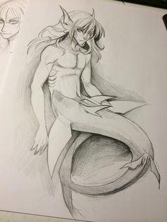 Shark Merman by Aspendragon.deviantart.com on @DeviantArt