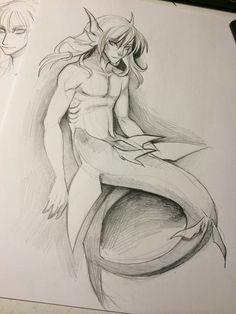 Shark Merman by Aspendragon.deviantart.com on @DeviantArt