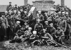 Group of soldiers from the 9th Latvian Infantry Regiment at Povorino, November 1918.