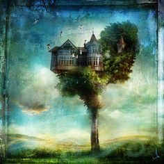 Now that's a treehouse!!  The Whimsical Art of Alexander Jansson
