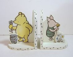 Vintage Winnie The Pooh And Piglet Bookends by BountifulGoods, $25.00