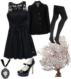 Monkey black funeral dress