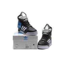quality design 5d500 2cded Jeremy Scott Adidas Wings Metro Attitude Logo Hi Black White Shoes