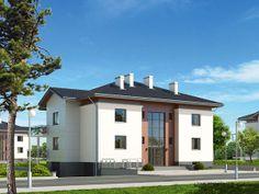 Lazur to dwukondygnacyjny dom z czterema niezależnymi mieszkaniami. Szczegóły projektu dostępne są n naszej stronie: http://www.domywstylu.pl/projekt-domu-lazur.php. #lazur, #projekty, #wielorodzinne, #domywstylu, #mtmstyl,