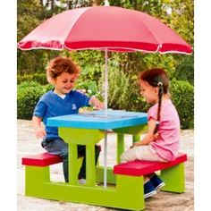Buy Chad Valley Resin Bench and Parasol Set at Argos.co.uk - Your Online Shop for Toy garden tools and accessories.