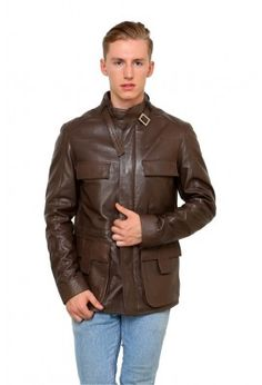 LAMB LEATHER JACKET WITH FRONT PANELS