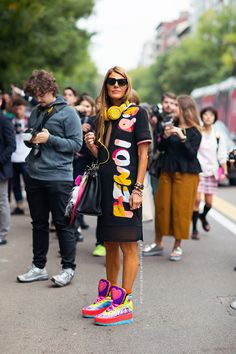 AdR flying the Fendi flag in Milan. #AnnaDelloRusso