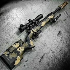 gunsdaily: By Longbow. The with scope, AAC Cyclone suppressor, and Atlas bipod at Designed specifically by request of a contracting firm to be used for counter terrorist sniper teams. Basically a modern version of an style sniper rifle.