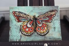 finished butterfly canvas by melody ross