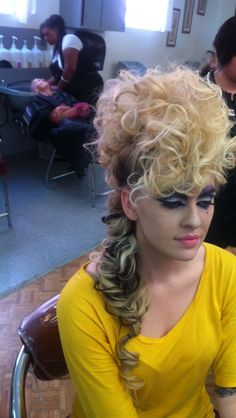 Avant garde bridal hair!