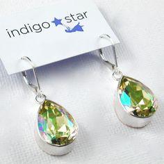 shimmering crystal earrings...