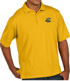 Antigua Men s Wichita State Shockers Yellow Pique Xtra-Lite Polo 1d87ff135