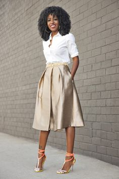 http://stylepantry.com/2015/02/11/classic-button-up-shirt-gold-pleated-midi-skirt/_mg_7792a/