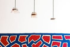 Hal Lamp designed by Guillaume Delvigne and France Rug designed by Nathalie du Pasquier // Milan 2013 Nathalie Du Pasquier, Lamp Design, Milan, Kids Rugs, France, Contemporary, Home Decor, Light Bulb Drawing, Decoration Home