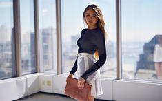 Download wallpapers Kristina Bazan, 2018, beauty, fashion blogger, blonde