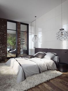 This is a Bedroom Interior Design Ideas. House is a private bedroom and is usually hidden from our guests. Much of our bedroom … Dream Bedroom, Home Bedroom, Bedroom Decor, Bedrooms, Bedroom Lighting, Modern Bedroom, Bedroom Ideas, Master Bedroom, Industrial Style Bedroom