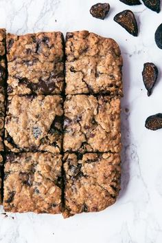 Giant chunks of dark chocolate, mission figs, and oatmeal walk into a bar...