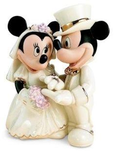 Muñecos #Disney para la tarta nupcial #boda #wedding #decoracion #inspiracion #Mickey #Minnie
