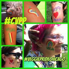 Colored with pride at the Chicago Veggie Pride Parade