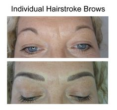 Semi-permanent hairstroke eyebrows
