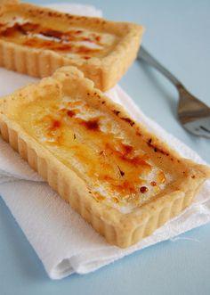 Tangy lemon tartlets with burnt sugar crust