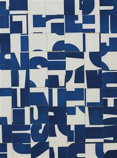 Untitled (c.1958-63) by American artist Carl Andre (b.1935). Printed paper collage on board, 17.625 x 13.5 in. via Christie's
