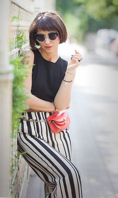 striped culottes outfit   chloe georgia belt bag   summer street style ideas   ellena galant girl
