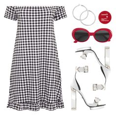 """""""Picnic dress"""" by baludna ❤ liked on Polyvore featuring Yves Saint Laurent and Korres"""