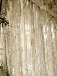 This shabby Chic garland curtain shows pure elegance, French farmhouse,boho chic and has a ROMANTIC SHABBY CHIC BOHO Gypsy Victorian theme feel, really makes a statement!