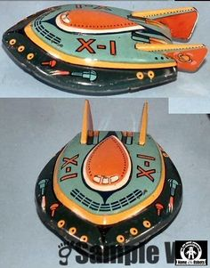 Flying Saucers - X-1 SPACESHIP - MAKER? - JAPAN - ALPHADROME ROBOT AND SPACE TOY…