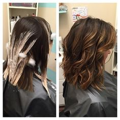Bayalage hair painting highlights before and after balayage @pbezilla