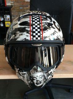 Custom Shark Raw Helmet