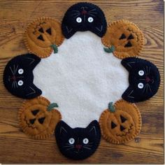 Candle Mat! I am working on this now, I purchased it as a kit, it is wool felt and so very neat!!