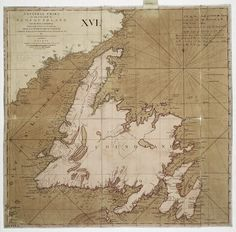 A general chart of the Island of Newfoundland with the rocks & soundings... by James Cook and Michael Lane surveyors and others - National Maritime Museum