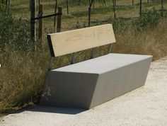 design public bench in concrete