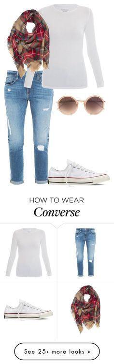 Fall outfits to wear now by naomilovell on Polyvore featuring Frame Denim, Converse, Majestic and Linda Farrow