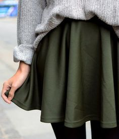pair your skirts with cozy sweaters for fall