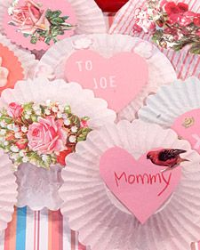 cupcake liner valentine's day crafts