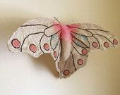 Large Butterfly Soft Sculpture, Textile Art, Fiber Art