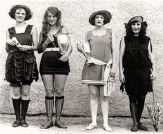 Bathing suits.... from previous pins of bathing suits, pretty sure this is from the 1920s!!!!