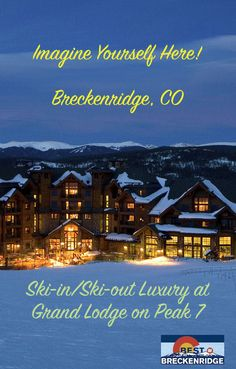 Enter to Win a Trip to Breckenridge CO. Get 5 Nights + Airfare + Lift Tickets for 2! Stay at the Luxury Ski-in/Ski-out Grand Lodge on Peak 7. Enter Now for your Chance to Win.