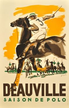 Deauville Saison de Polo, 1938 - original vintage poster by Michel Jacquot listed on AntikBar.co.uk