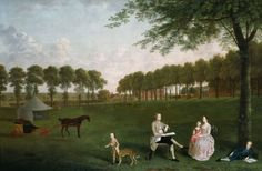 Arthur Devis English, 1712–1787  Sir John Shaw and his Family in the Park at Eltham Lodge, Kent, 1761