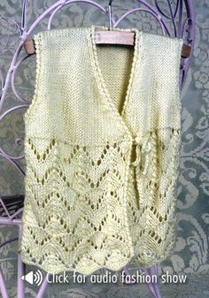 Free Knitting Pattern - Toddler & Children's Clothes: Corinthia Vest