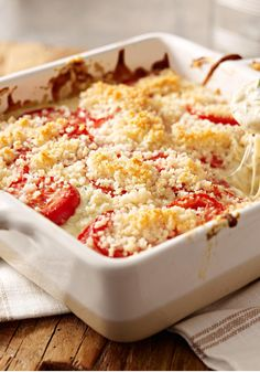Creamy Vegetable Gratin — Creamy, dreamy and loaded with delicious vegetables, this impressive recipe takes just 15 minutes to prep for the oven.