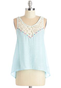 Tide by Side Top. Sneak into this pastel blue tank and tiptoe to the shoreline as the sun begins to rise. #blue #modcloth