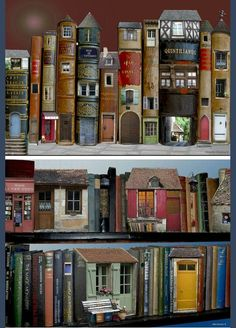 Miniature DIY Doll House with Handmade Furniture ~ Miniature Doll House ~ Do it Yourself Doll House ~ Lovely Mini Doll Houses Miniature Plants, Miniature Rooms, Diy Dollhouse, Dollhouse Miniatures, Old Book Crafts, Mini Doll House, Recycled Books, Book Sculpture, Paper Sculptures
